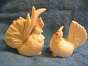 Vintage Rooster & Hen Salt and Pepper Shakers