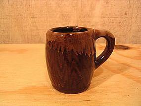 Brown Drip Mug Toothpick Holder