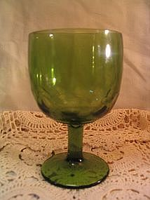 Green Thumbprint Goblet