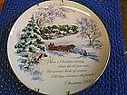 1980 American Greetings Christmas Plate