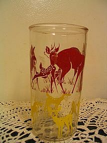 Vintage Deer Glass