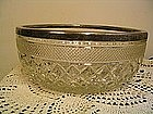 Silver and Cut Glass Bowl