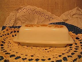 Butterfly Gold Butter Dish