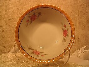 Lusterware Rose Bowl