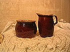 Hull Brown Drip Creamer and Sugar