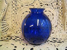 Cobalt Blue Ivy Vase