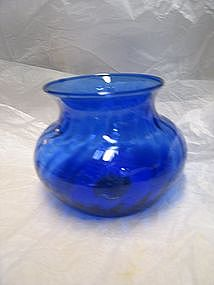 Cobalt Swirl Vase