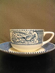 Royal Currier and Ives Cup and Saucer