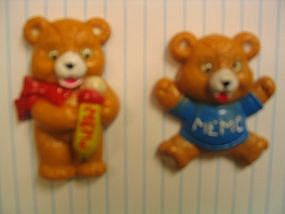 Vintage Teddy Bear Magnets