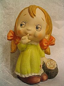 Sad Little Girl Figurine