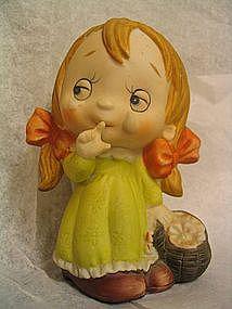 Sad Little Girl Figurine