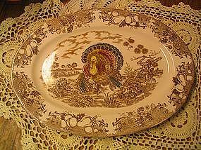 Vintage Turkey Platter