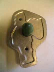 Green Handle Santa Cookie Cutter