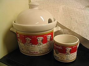 Campbell's Soup Tureen and Mugs