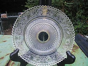 Sandwich Glass and Silver Dish
