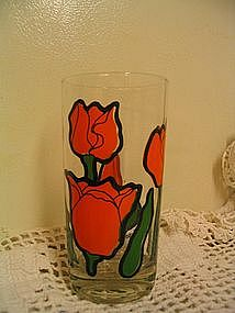 Orange Tulip Glass