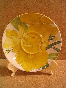 Ernestine Yellow Flower Saucer