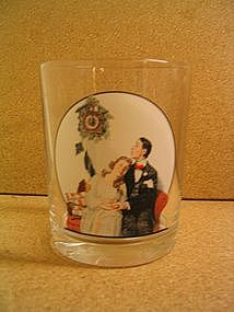 Norman Rockwell Courting at Midnight Glass