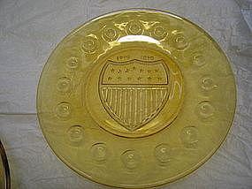 Anchor Hocking Bicentennial Plate