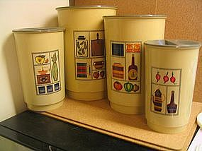 Vintage Green Canisters