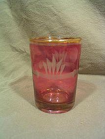 Cranberry Flashed Glass
