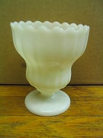 Milk Glass Goblet Vase