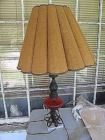 Vintage Burlap Lampshade