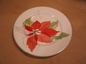 Block Poinsettia Plate