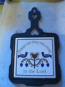 Happy are They Who Trust in the Lord Trivet