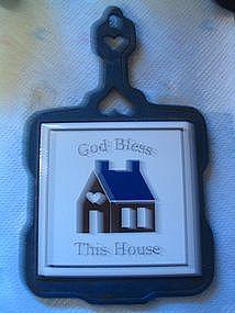 God Bless this House Trivet