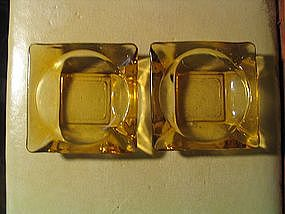 Anchor Hocking Gold Ashtrays