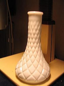 Milk Glass Quilted Diamond Vase
