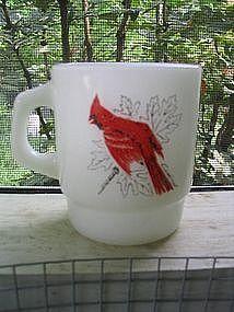 Fire King Bird Mug