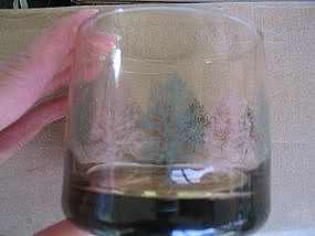 Amber Glass with Trees