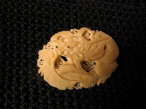 Ivory Dragon Brooch