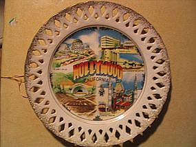 Hollywood Souvenir Plate