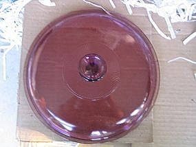 Corning Cranberry Lid