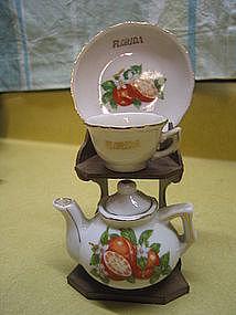 Florida Teapot Cup & Saucer