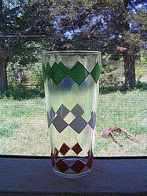 Red & Green Diamond Glass