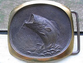 Bronze Bass Belt Buckle