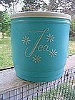 Turquoise Tea Canister