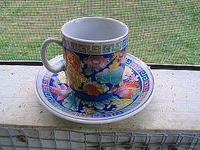 Lotus Demitasse Cup and Saucer