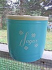 Turquoise Sugar Canister
