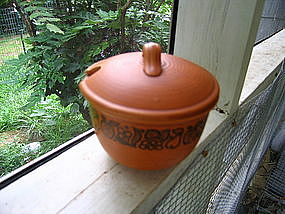 Stoneware Jam Pot