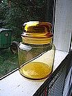 Amber Apothecary Jar