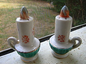 Christmas Candle Salt and Pepper Shakers