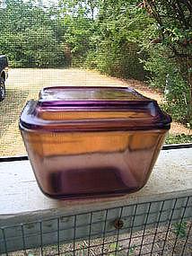 Pyrex Amber Refrigerator Dish
