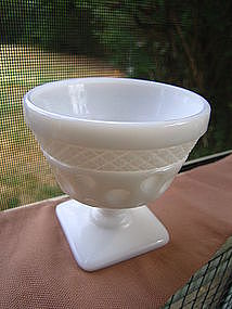 McKee Milk Glass Thumbprint Sherbet