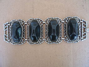 Faux Onyx Bracelet
