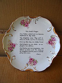 Lord's Prayer Plate